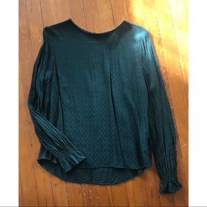 H&M long sleeve blouse with bell sleeves